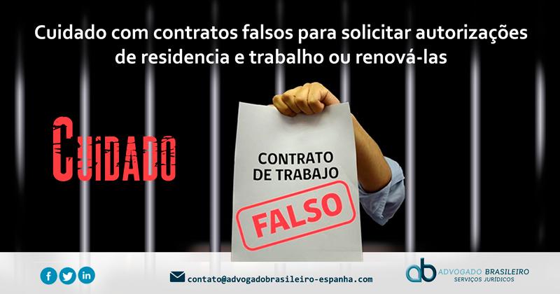 Tenha cuidado com contratos falsos para solicitar autorizações de residência e trabalho ou renová-las.