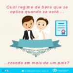 Qual regime de bens que se aplica quando se está casado em mais de um país?