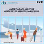 AUMENTA PARA 13 O NÚMERO DE AEROPORTOS ABERTOS NA ESPANHA