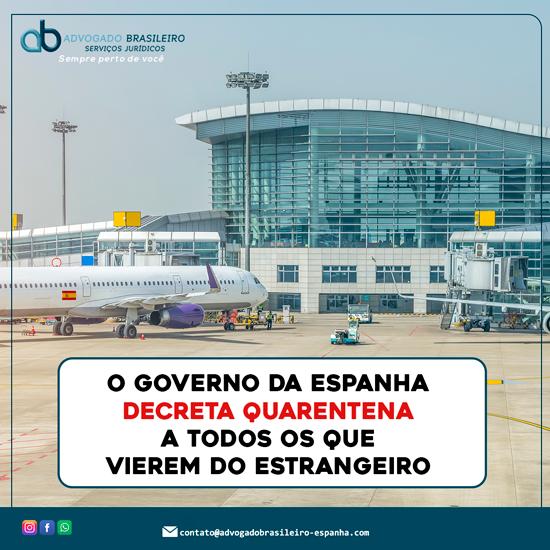 O Governo da Espanha decreta quarentena a todos os que vierem do estrangeiro