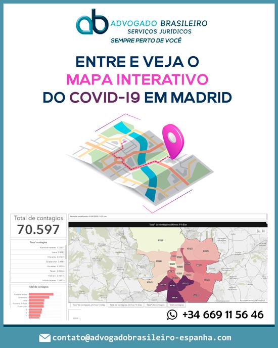 Quer saber como vai o contagio do Covid-19 nos diferentes bairros de Madrid?